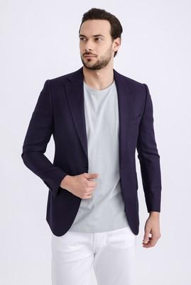 Erkek Giyim - Mor 52 Beden Kuşgözü Ceket