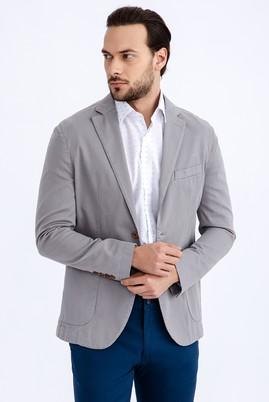 Erkek Giyim - Füme Gri 46 Beden Slim Fit Ceket