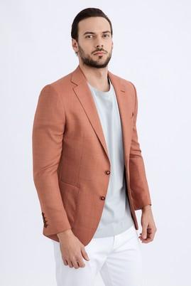 Erkek Giyim - KİREMİT 48 Beden Kuşgözü Ceket