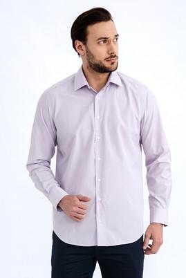 Erkek Giyim - Lila S Beden Uzun Kol Ekose Gömlek