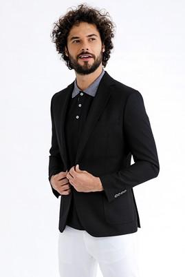 Erkek Giyim - Siyah 58 Beden Bambu Ceket