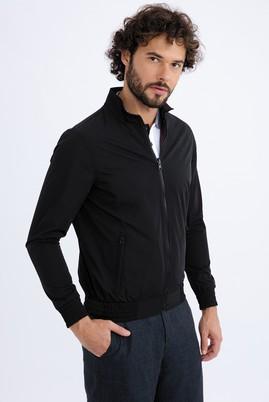 Erkek Giyim - Siyah 46 Beden Mevsimlik Çift Taraflı Mont