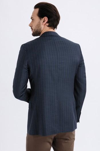 Erkek Giyim - İtalyan Yün Ekose Ceket