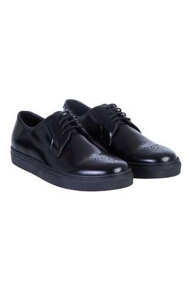 Erkek Giyim - Siyah 43 Beden Casual Bağcıklı Ayakkabı