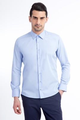 Erkek Giyim - Mavi L Beden Uzun Kol Slim Fit Gömlek