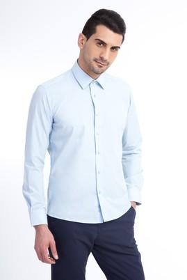Erkek Giyim - Açık Mavi XS Beden Uzun Kol Slim Fit Gömlek