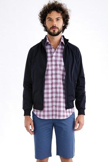 Erkek Giyim - Desenli Bermuda Şort