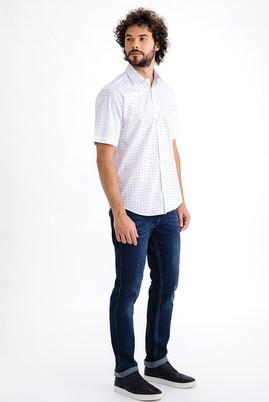 Erkek Giyim - Mavi 50 Beden Slim Fit Denim Pantolon