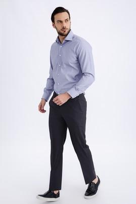 Erkek Giyim - Füme Gri 56 Beden Slim Fit Pantolon