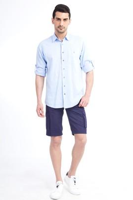 Erkek Giyim - Mor 46 Beden Spor Bermuda Şort