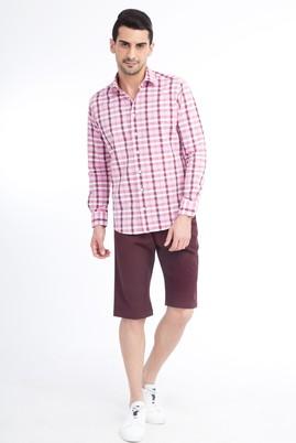 Erkek Giyim - Bordo 48 Beden Spor Bermuda Şort