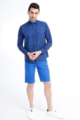 Erkek Giyim - Açık Mavi 50 Beden Spor Bermuda Şort