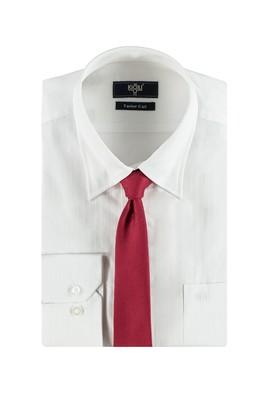 Erkek Giyim - Kırmızı XXL Beden Gömlek Kravat Seti