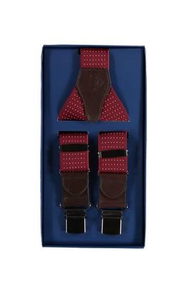 Erkek Giyim - Bordo STD Beden Kalın Pantolon Askısı