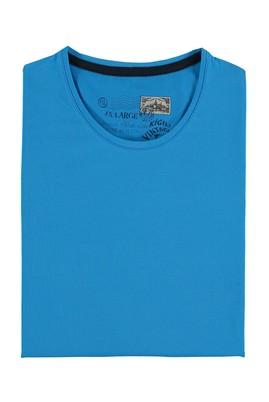 Erkek Giyim - Mavi 5X Beden King Size Bisiklet Yaka Tişört