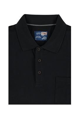 Erkek Giyim - Siyah 5X Beden King Size Polo Yaka Tişört