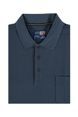 Erkek Giyim - Füme Gri 4X Beden King Size Polo Yaka Tişört