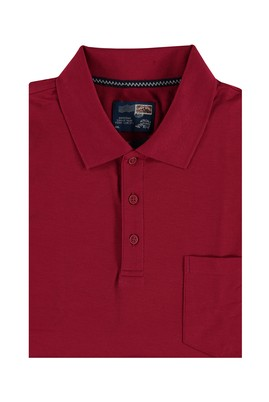 Erkek Giyim - Bordo 5X Beden King Size Polo Yaka Tişört