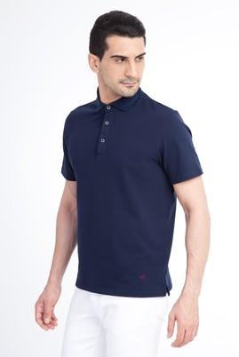 Erkek Giyim - Lacivert XXL Beden Regular Fit Polo Yaka Tişört