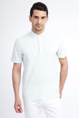 Erkek Giyim - Açık Mavi S Beden Regular Fit Polo Yaka Tişört