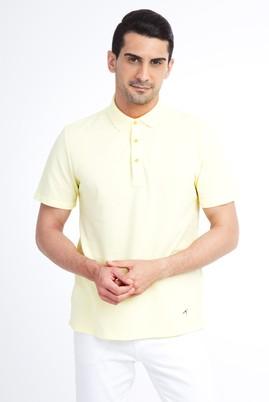 Erkek Giyim - Sarı XL Beden Regular Fit Polo Yaka Tişört