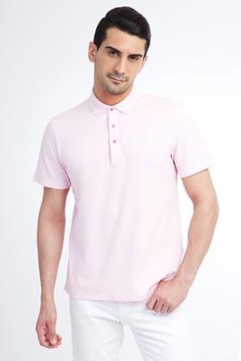 Erkek Giyim - Pembe L Beden Regular Fit Polo Yaka Tişört