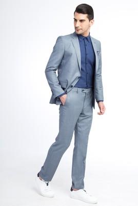 Erkek Giyim - Açık Mavi 62 Beden Kuşgözü Takım Elbise