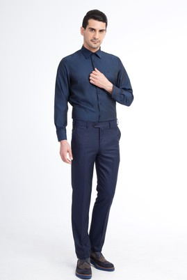 Erkek Giyim - KOYU MAVİ 48 Beden Slim Fit Klasik Pantolon