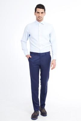 Erkek Giyim - KOYU MAVİ 54 Beden Slim Fit Klasik Pantolon