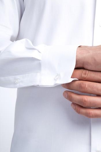 Erkek Giyim - Uzun Kol Slim Fit Manşetli Gömlek