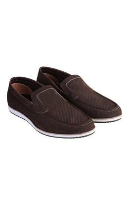 Erkek Giyim - Kahve 40 Beden Nubuk Loafer Ayakkabı