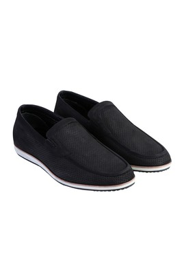 Erkek Giyim - Siyah 41 Beden Nubuk Loafer Ayakkabı