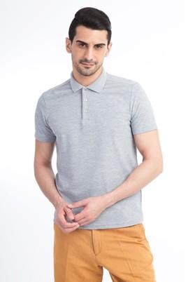 Erkek Giyim - Orta füme L Beden Polo Yaka Slim Fit Tişört