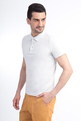 Erkek Giyim - Kum XXL Beden Polo Yaka Slim Fit Tişört
