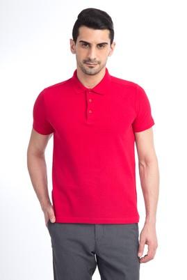 Erkek Giyim - Kırmızı XL Beden Polo Yaka Slim Fit Tişört