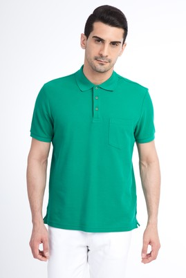 Erkek Giyim - Acık Yesıl M Beden Regular Fit Polo Yaka Tişört