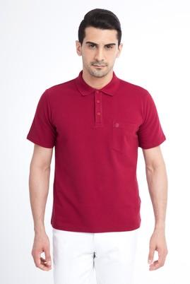 Erkek Giyim - Bordo XXL Beden Regular Fit Polo Yaka Tişört