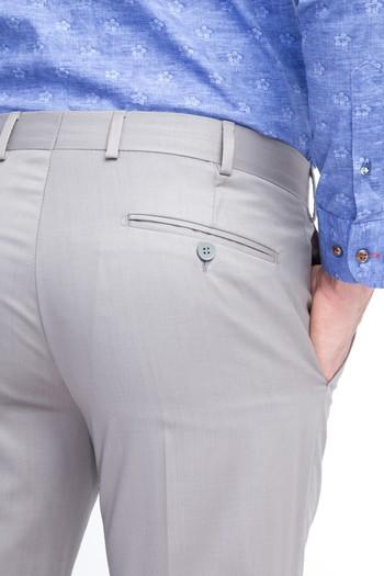 Erkek Giyim - Slim Fit Yünlü Klasik Pantolon