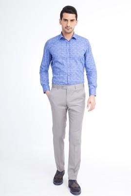 Erkek Giyim - Kum 48 Beden Slim Fit Klasik Pantolon