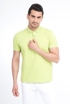 Erkek Giyim - Acık Yesıl XL Beden Regular Fit Polo Yaka Tişört