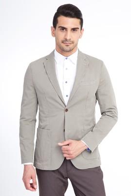 Erkek Giyim - VİZON 46 Beden Baskılı Spor Ceket