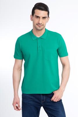 Erkek Giyim - Açık Yeşil 3X Beden Regular Fit Polo Yaka Tişört