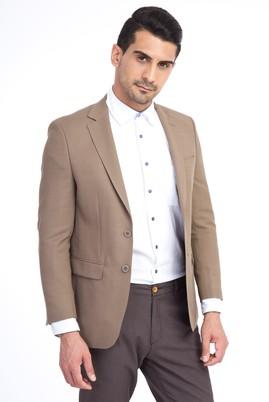 Erkek Giyim - Bej 56 Beden Klasik Ceket