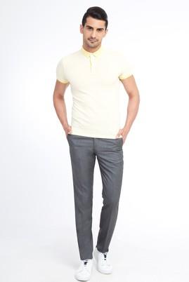 Erkek Giyim - Orta füme 54 Beden Kuşgözü Klasik Pantolon