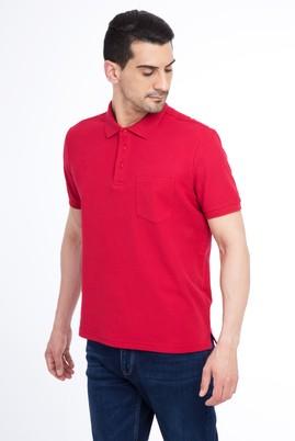 Erkek Giyim - Kırmızı XL Beden Regular Fit Polo Yaka Tişört