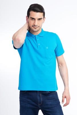 Erkek Giyim - Turkuaz 3X Beden Regular Fit Polo Yaka Tişört