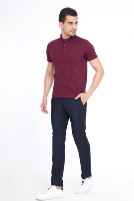 Erkek Giyim - Lacivert 50 Beden Slim Fit Klasik Pantolon