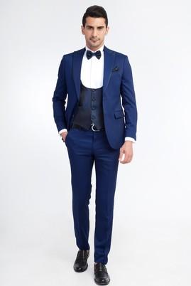 Erkek Giyim - Mavi 48 Beden Sivri Yaka Smokin / Damatlık