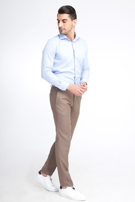 Erkek Giyim - TOPRAK 54 Beden Slim Fit Yünlü Klasik Pantolon