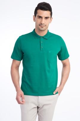 Erkek Giyim - KOYU YESİL XXL Beden Regular Fit Polo Yaka Tişört